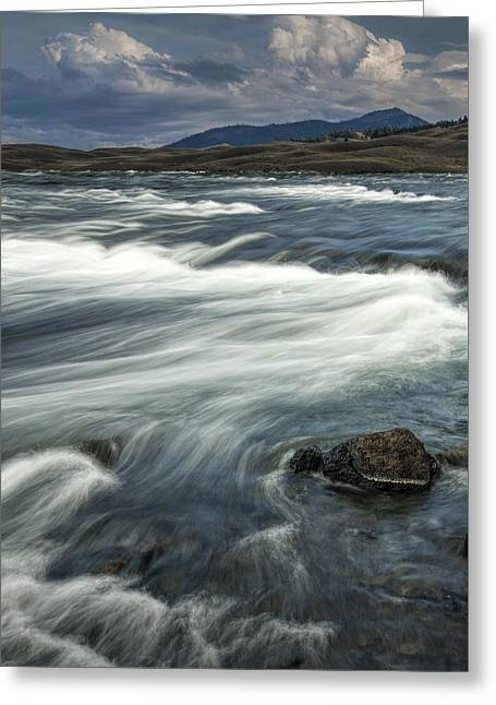 Yellowstone River Greeting Card by Randall Nyhof