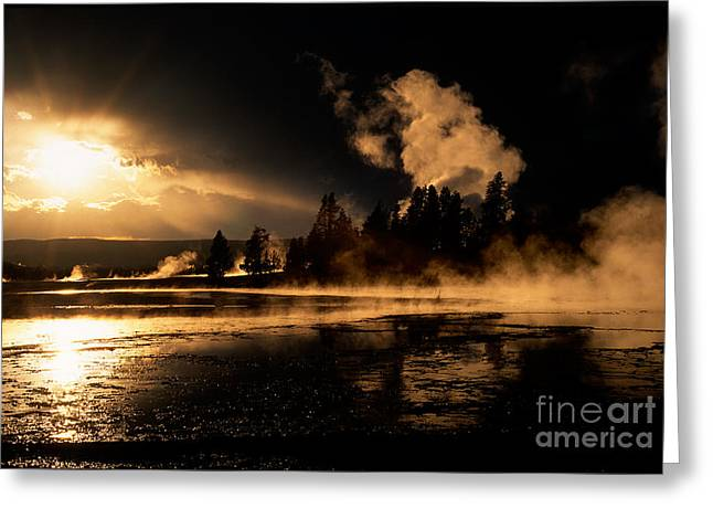 Yellowstone River Sunrise Greeting Card