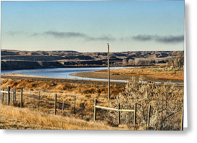 Yellowstone River View Greeting Card by Aliceann Carlton