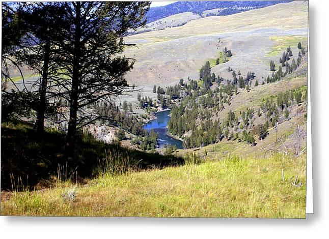 Yellowstone River Vista Greeting Card by Marty Koch