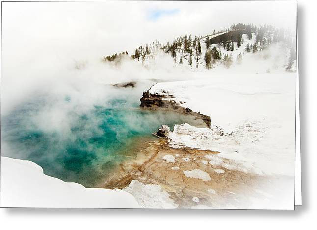 Yellowstone Thermals Greeting Card by Melody Watson