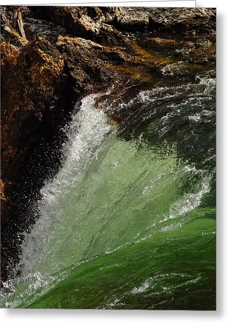 Yellowstone Upperfalls Greeting Card by Patrick  Flynn
