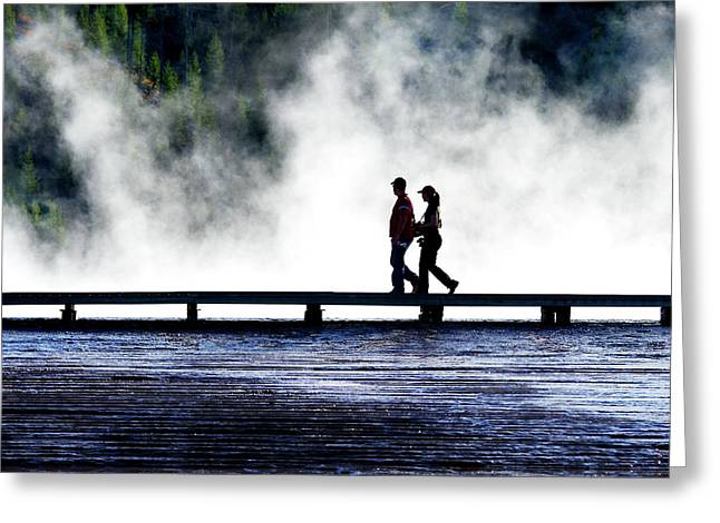 Yellowstone Walkers Greeting Card