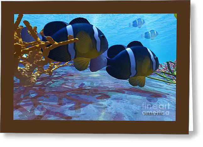 Yellowtail Clownfish Greeting Card by Corey Ford