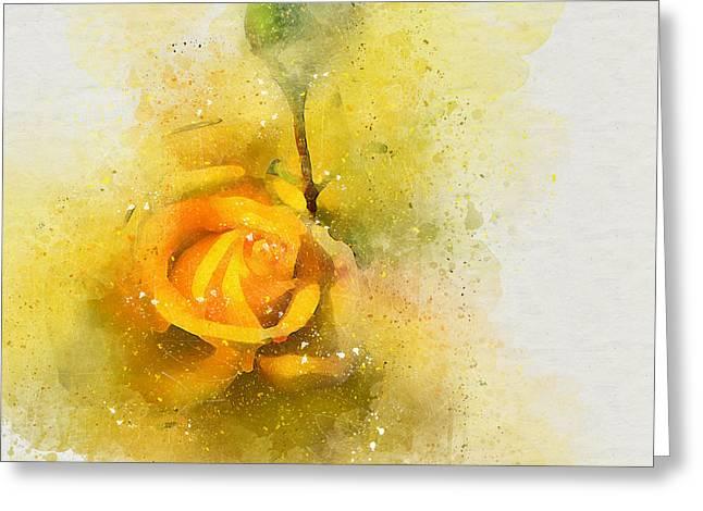 Yelow Rose Greeting Card