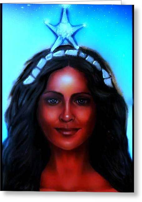 Yemaya -mother, Goddess, Warrior Greeting Card