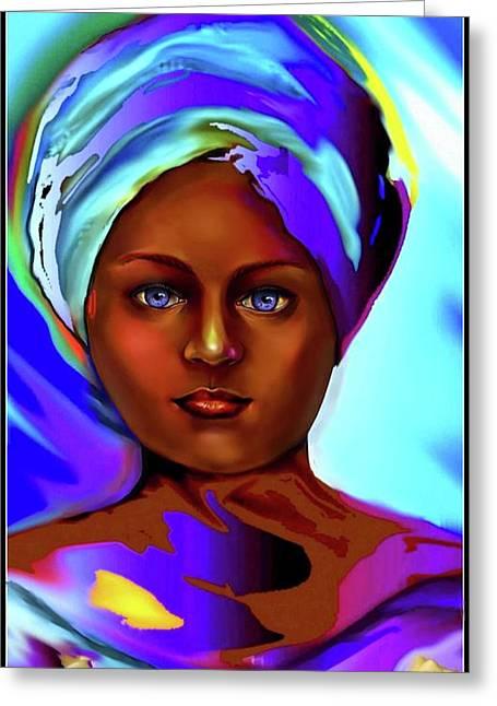 Yemaya -mother Of The Orishas Greeting Card by Carmen Cordova