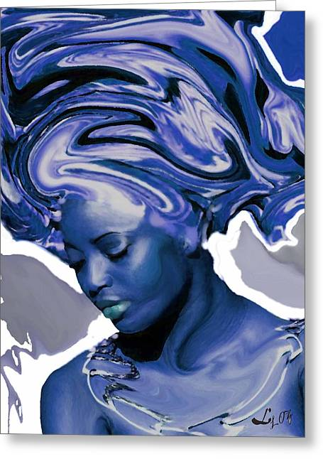 Orishas Greeting Cards - Yemaya Okute Greeting Card by Liz Loz