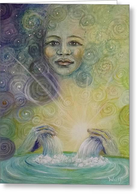 Yemaya - Water Goddess Greeting Card
