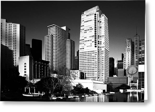 Yerba Buena Garden 2 . Bw Greeting Card by Wingsdomain Art and Photography