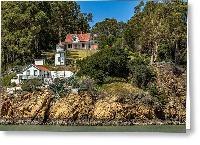 Yerba Buena Lighthouse Greeting Card by Bill Gallagher