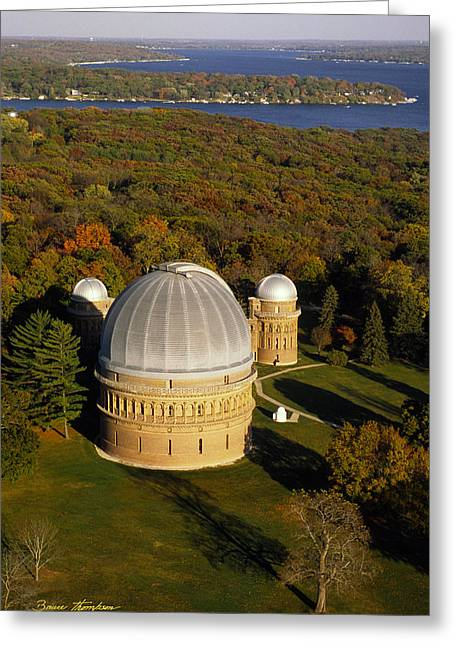 Yerkes Observatory - Aerial View - Lake Geneva Wisconsin Greeting Card