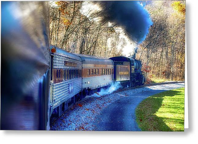 Yesterday By Train  Greeting Card by Steven Digman