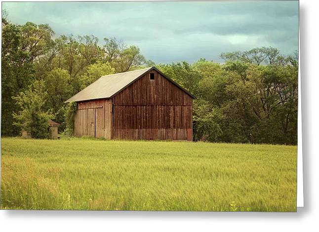 Yesterday's Barn Greeting Card by Kim Hojnacki