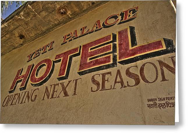 Yeti Greeting Cards - Yeti Palace HDR Greeting Card by Jason Blalock