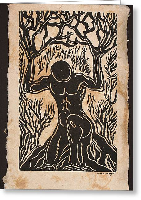 Yggdrasil Greeting Card by Maria Arango Diener