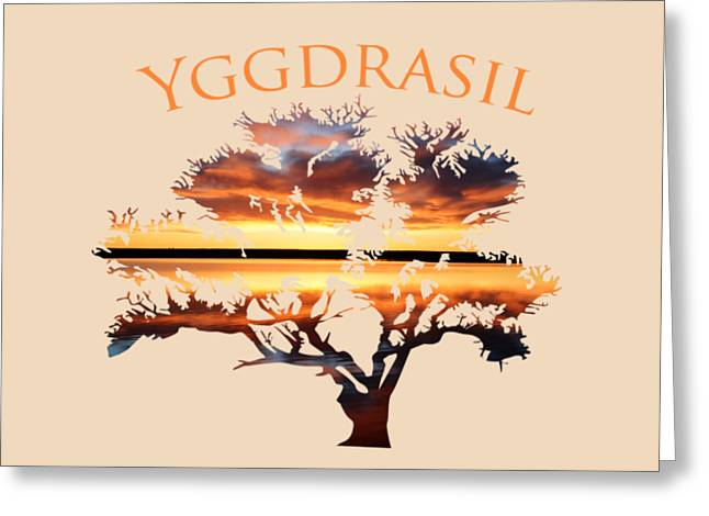 Yggdrasil- The World Tree 2 Greeting Card by Whispering Peaks Photography