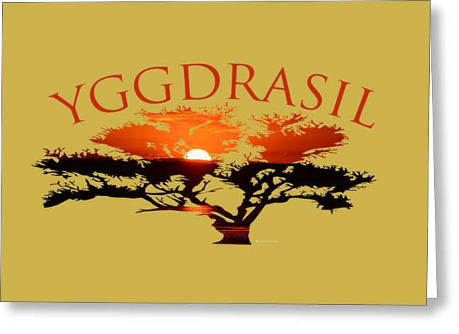 Yggdrasil- The World Tree Greeting Card