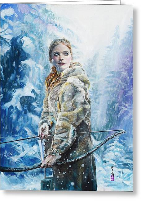 Ygritte The Wilding Greeting Card