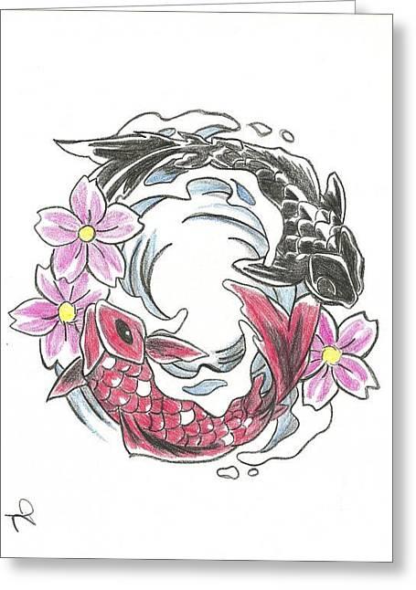 Yin And Yang Greeting Card