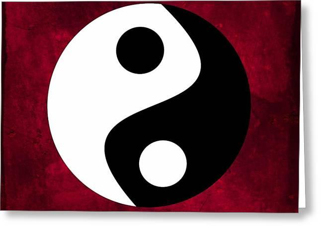 Yin And Yang Greeting Card by Marianna Mills