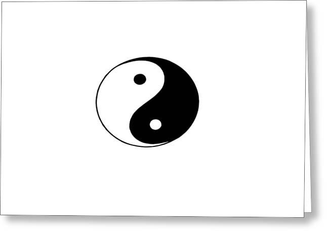 Yin And Yang Greeting Card by Pat Cook