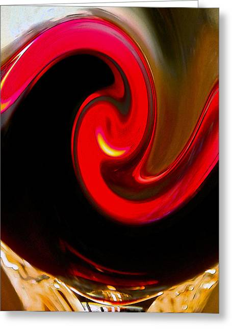 Yin Yang Greeting Card by Bill Owen