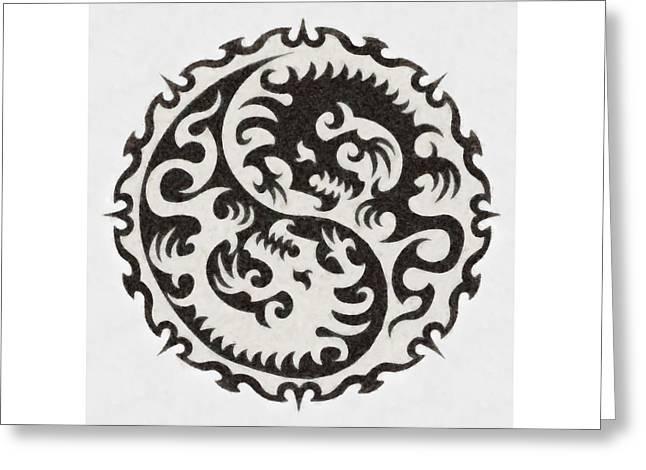 Yin Yang By Pierre Blanchard Greeting Card