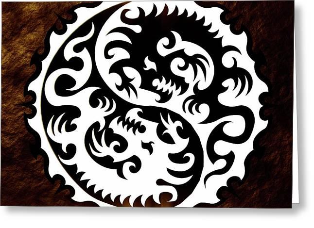 Yin Yang By Sarah Kirk Greeting Card