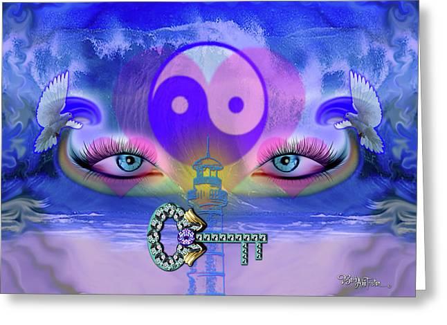 Yin Yang Key To Peace #190 Greeting Card