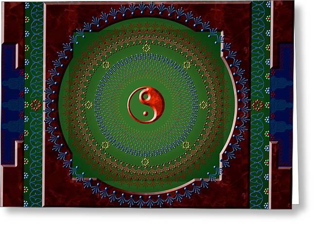 Yin Yang Greeting Card by Stephen Lucas