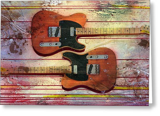 Greeting Card featuring the painting Yin-yang Teles by Andrew King