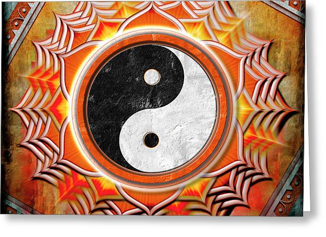 Yin Yang -  The Healing Of The Orange Chakra Greeting Card