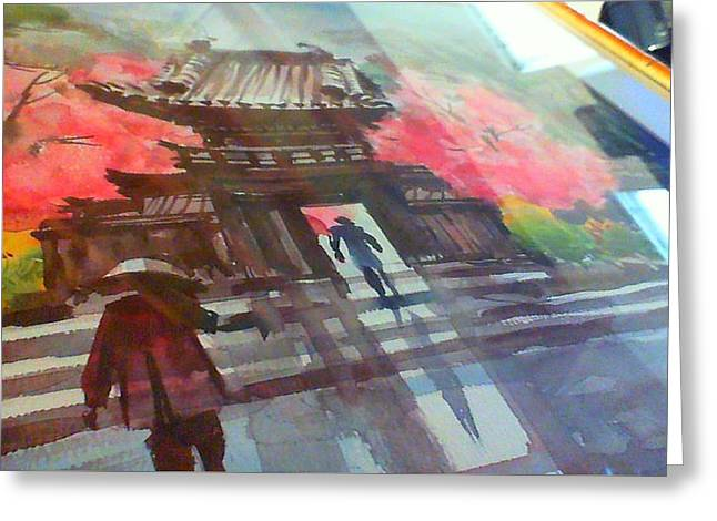Ying Sun China Temple Greeting Card by Charles Price