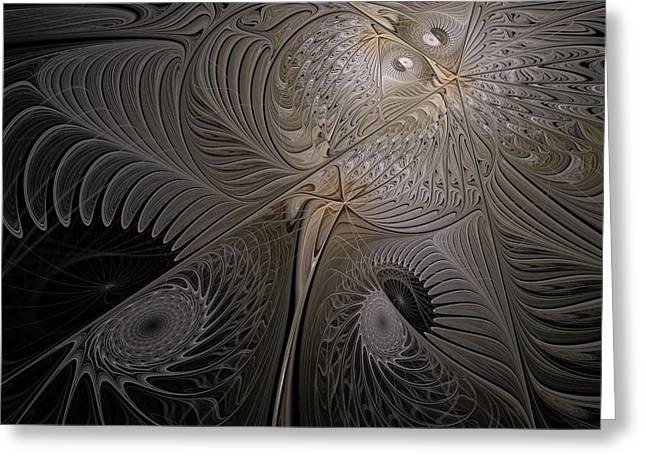 Ying-yang Moth Greeting Card by Elena Ivanova IvEA