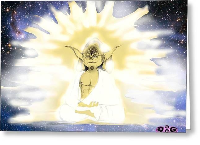Yoda Budda Greeting Card