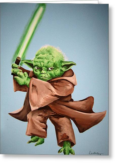Yoda Greeting Card by Dani Marie