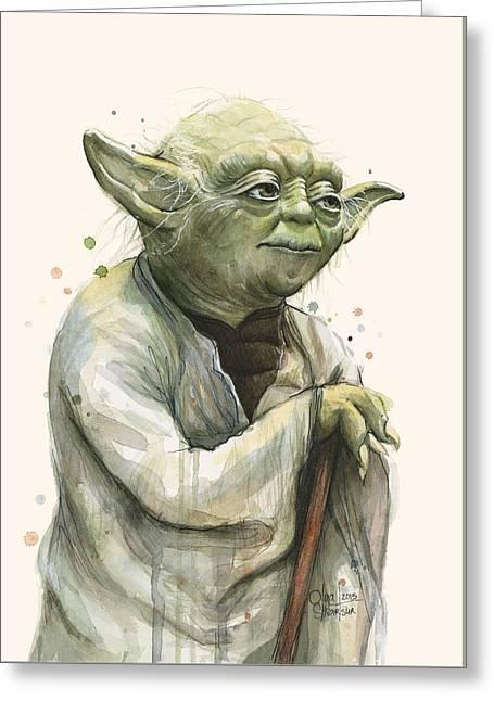 Yoda Portrait Greeting Card