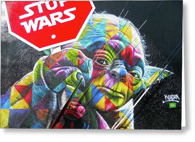 Yoda - Stop Wars Greeting Card