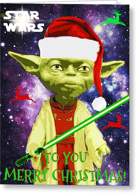 Yoda Wishes To You Merry Christmas Greeting Card