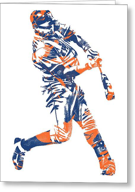 Yoenis Cespedes New York Mets Pixel Art 1 Greeting Card