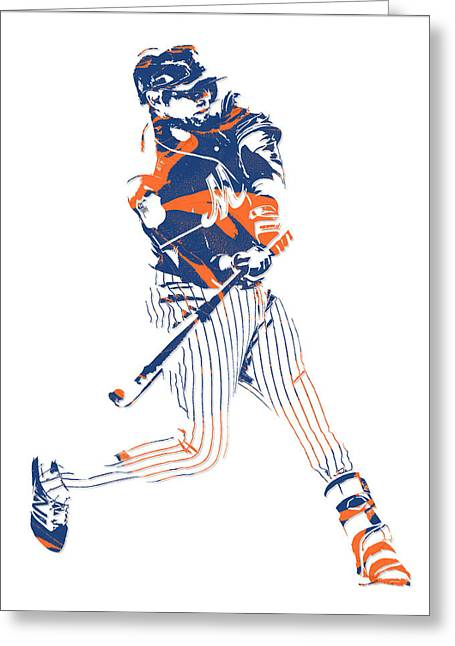 Yoenis Cespedes New York Mets Pixel Art 2 Greeting Card