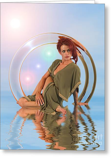 Yoga Girl Audrey Michelle 2030225 Greeting Card by Rolf Bertram