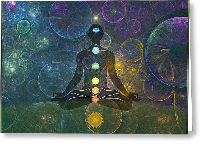 Yoga Greeting Card by Harald Dastis