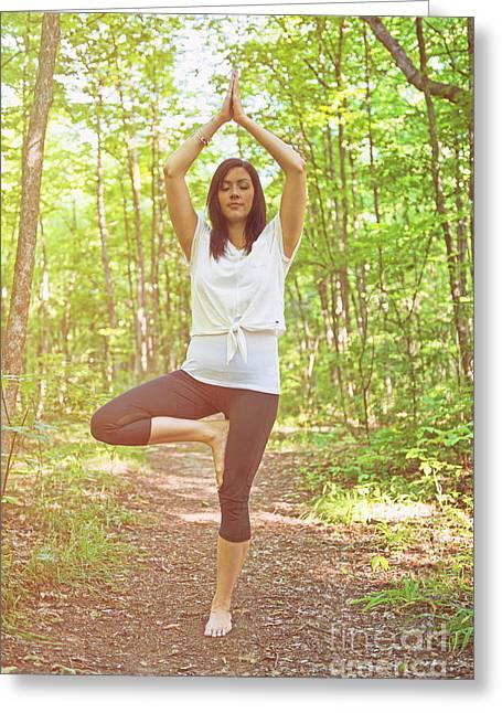 Yoga.. Greeting Card by Nina Stavlund