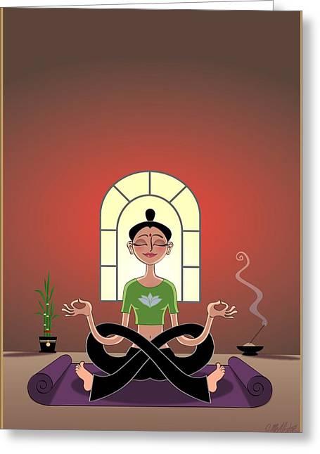 Yoga Pretzel Greeting Card by Cristina McAllister