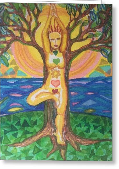 Yoga Tree Pose Greeting Card