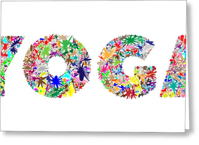 Yoga Word Art Greeting Card
