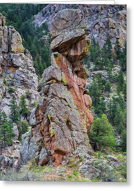 Greeting Card featuring the photograph Yogi Bear Rock Formation by James BO Insogna