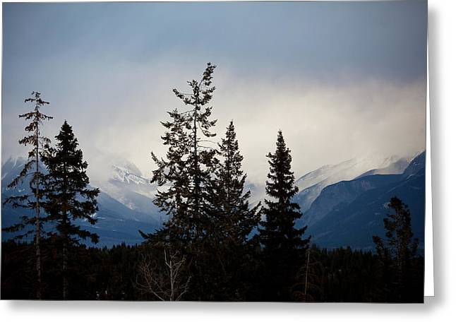 Greeting Card featuring the photograph Yoho Mountains British Columbia Canada by Jane Melgaard
